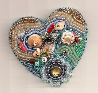 вышивание бисером сердце из бисера