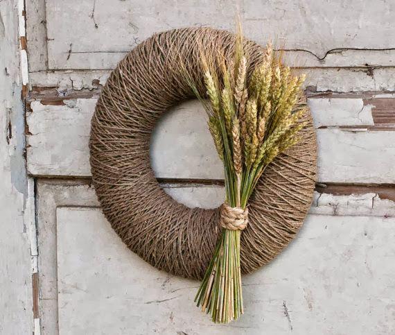 wianek rustykalny jesienna inspiracja dekoracja DIY