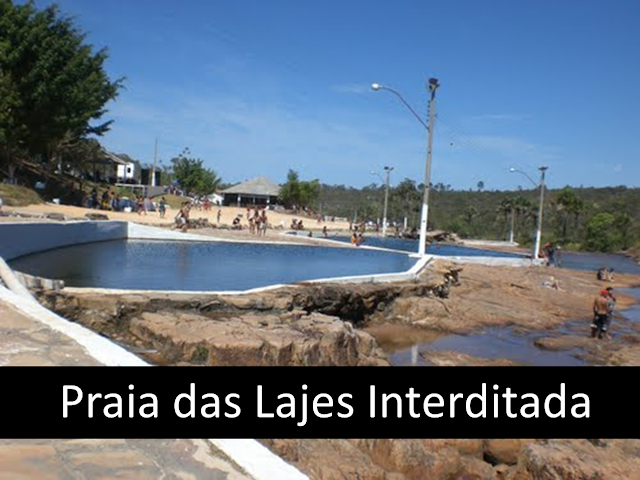 Balneário da Praia das Lajes em Cristalina Goiás