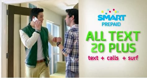 Smart All Net Text 20 Plus with Free Call and Surf Promo