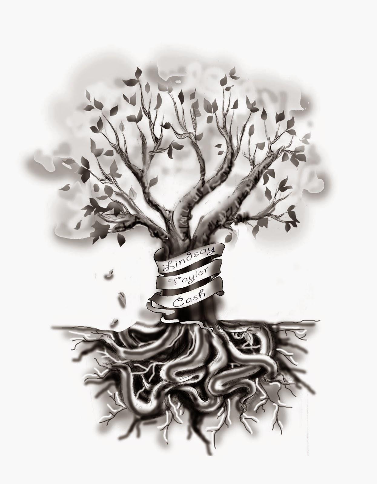 pam vale art and design blog custom family tree tattoo design. Black Bedroom Furniture Sets. Home Design Ideas