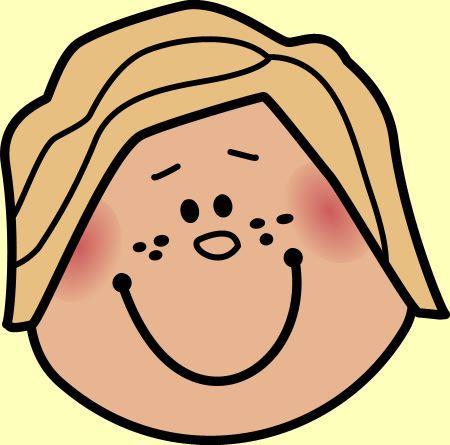 cara de nina en imagen para imprimir dibujos de caras de ninos para