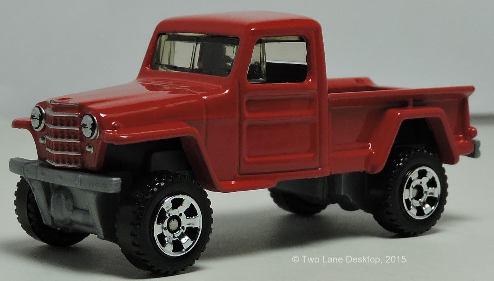 two lane desktop matchbox jeep willys 4x4 pickup. Black Bedroom Furniture Sets. Home Design Ideas