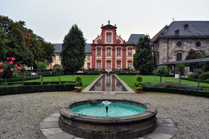 Fulda Cathedral back graden and museum, Germany