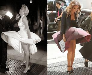 Jessica Alba, deja al descubierto su lencería, al mejor estilo Marilyn Monroe.