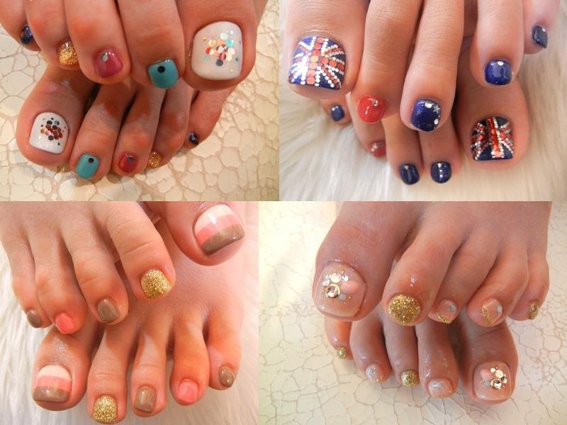 Дизайн на ногтях ног
