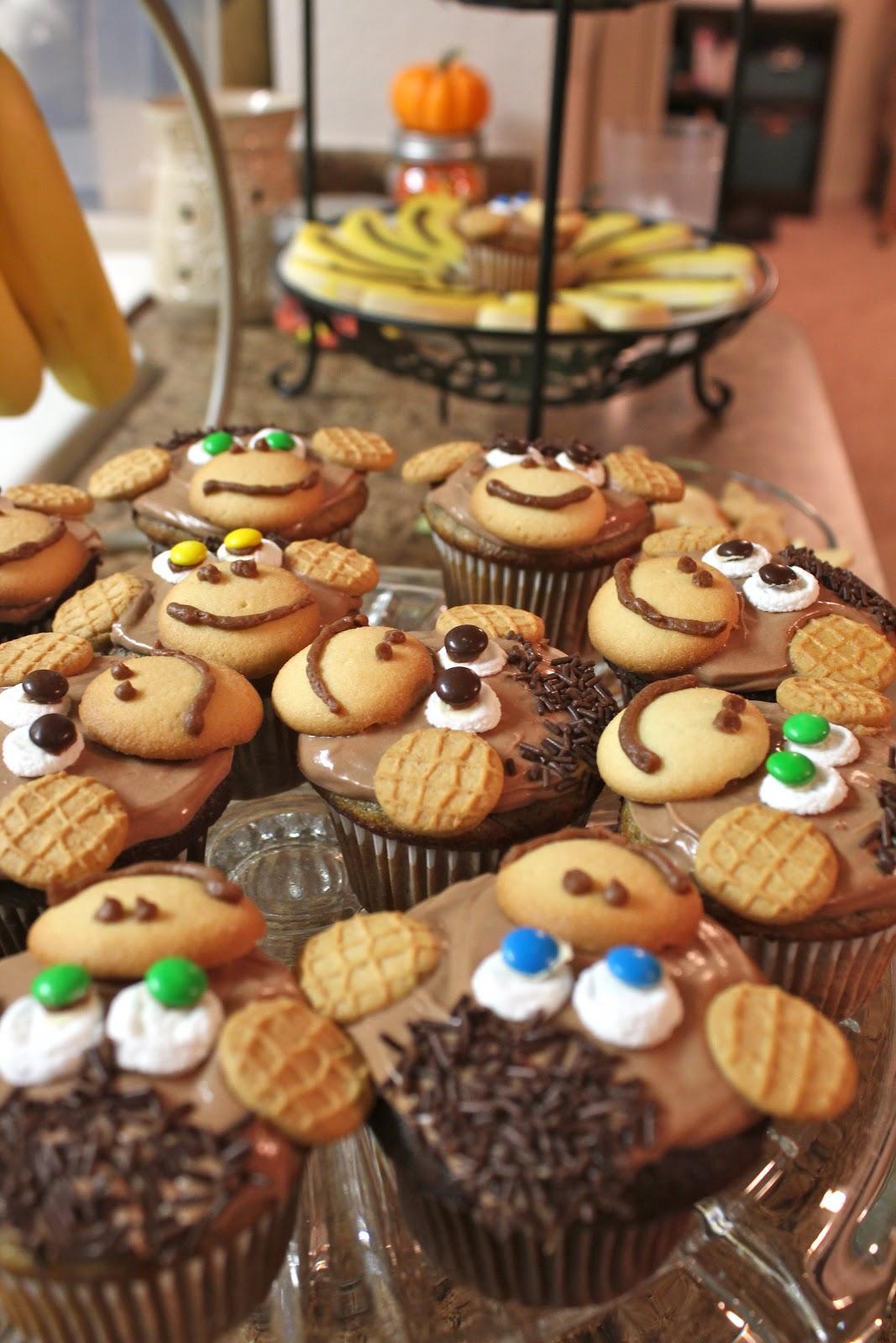 Leesh Amp Lu S Recipe Box Chocolate Banana Monkey Cupcakes