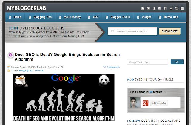 my blogger lab