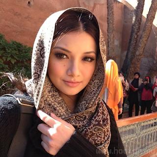 Neelofa berhijab di Casablanca Morocco
