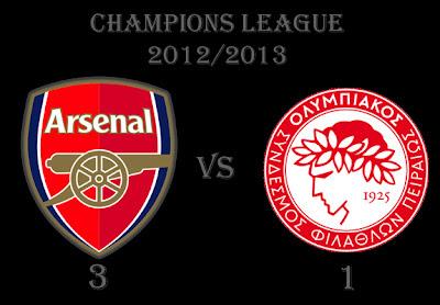 Arsenal vs Olympiakos Champions League