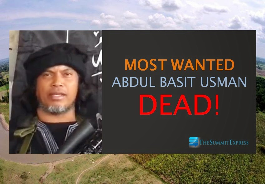 Terrorist Abdul Basit Usman is dead - local officials confirmed