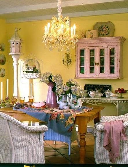 Maison decor romantic kitchen decor for Romantic kitchen designs