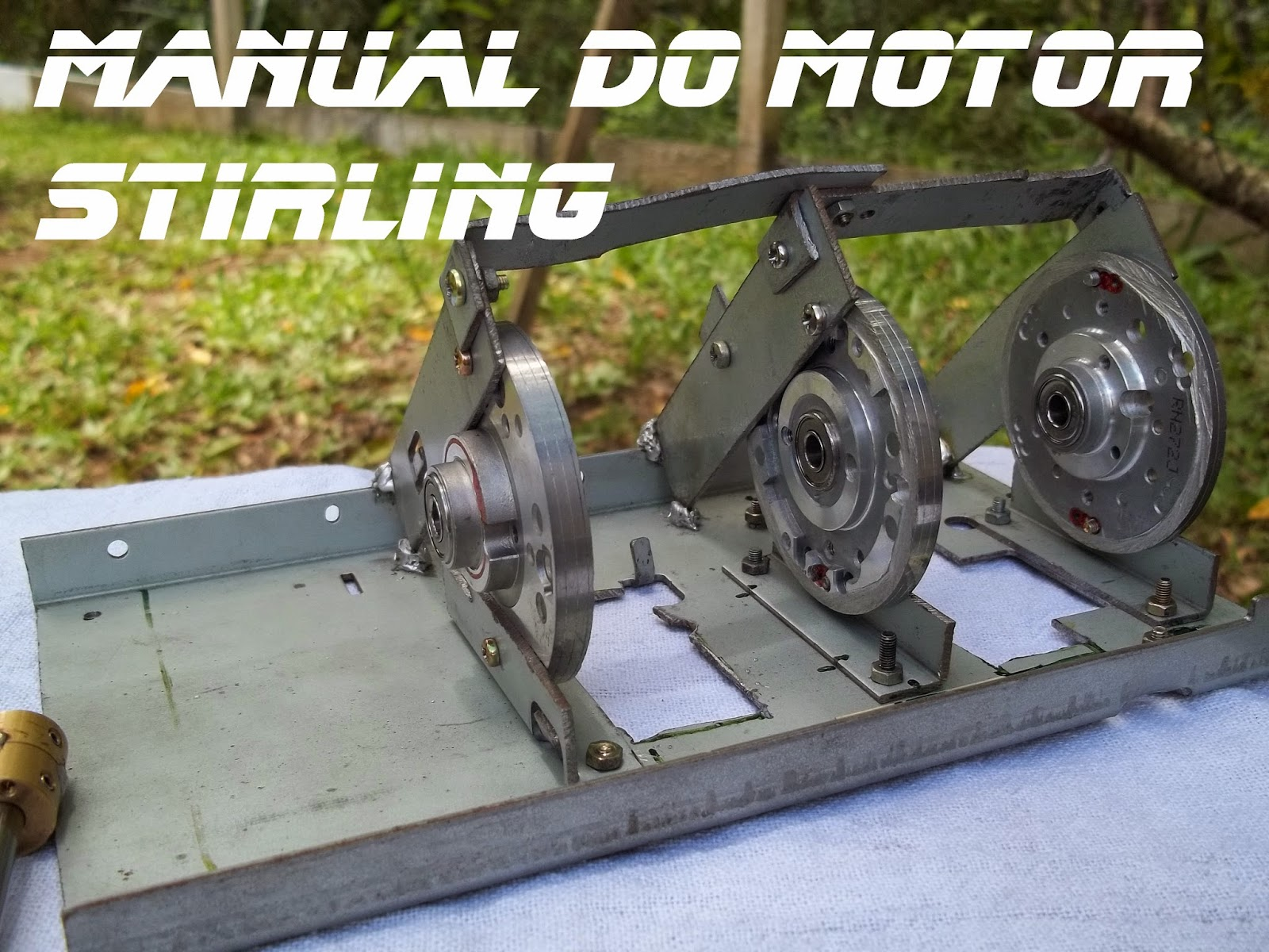 Terceiro cabeçote de vídeo cassete sobre a base do motor, Manual do motor Stirling