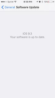 iOS 9.3 Beta Installed