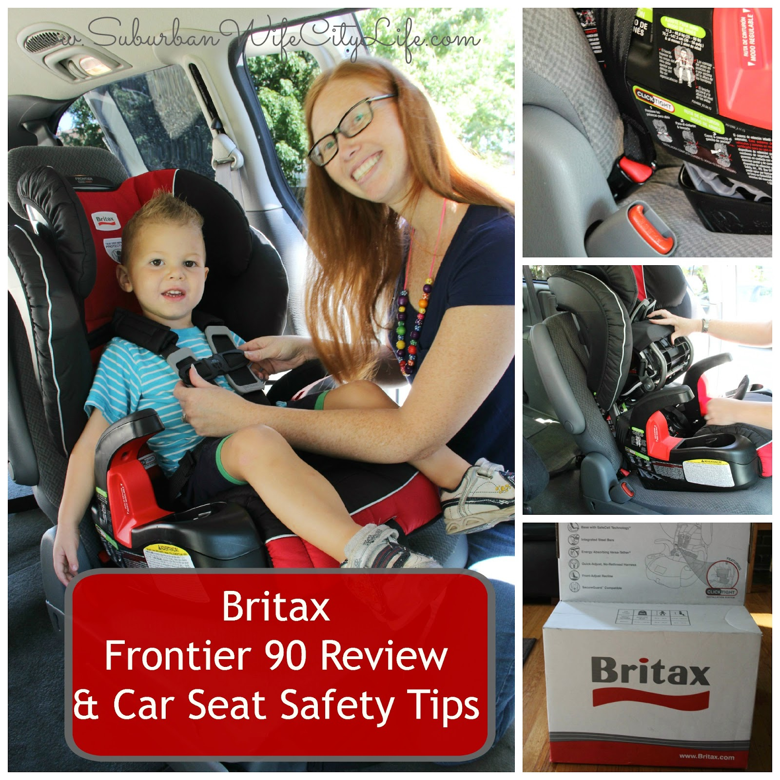 Car Seat Safety Info & Britax Frontier 90 Review - Suburban Wife ...