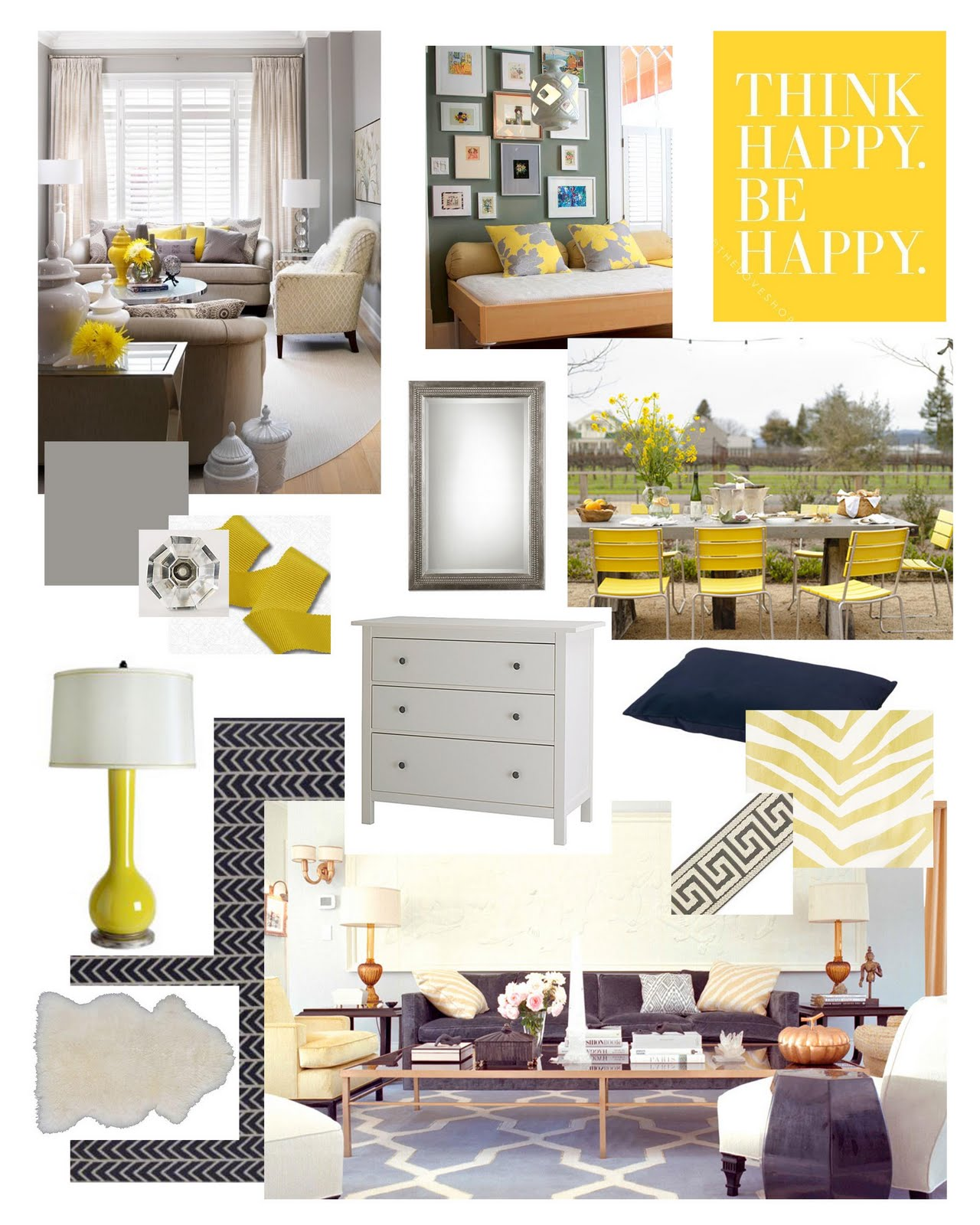 Bellevue And Rose Yellow Gray Inspiration Board