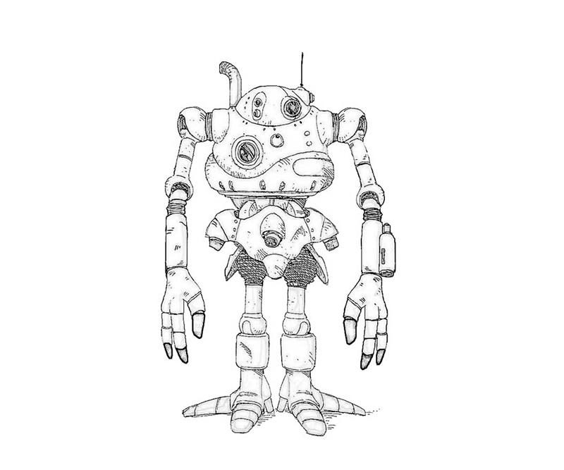 robo-funny-coloring-pages