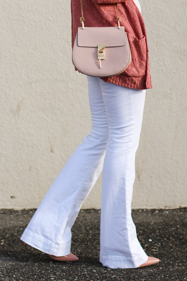 blush pink chloe drew cross body