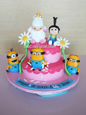 despicable me minions and agnes cake