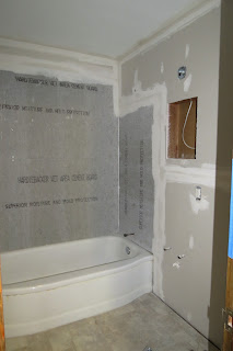 Dippity dot for Cement board for bathroom walls