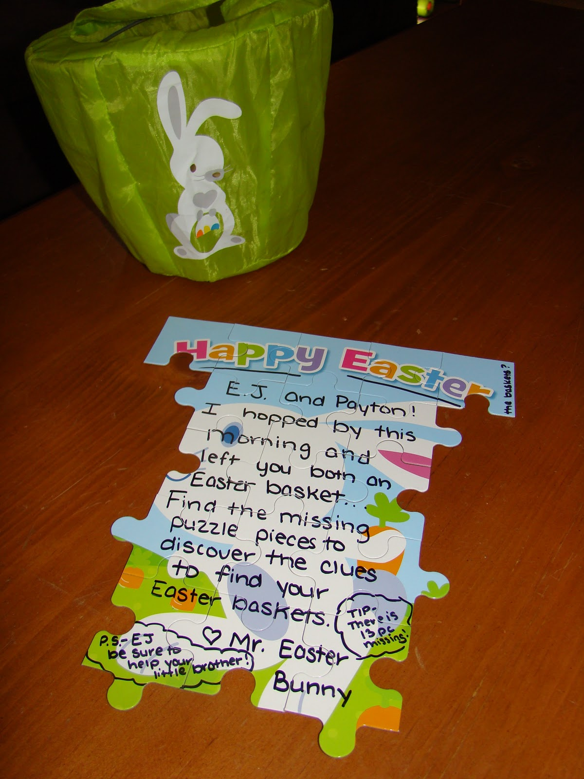 Considerate classroom early childhood special education edition i then took the outside edges of the puzzle and placed them in easter eggs to hide around the yard on easter my son went out and searched for the puzzle negle Images