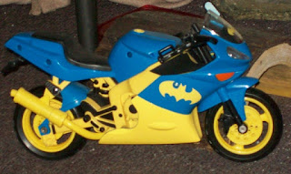 Mattel Batgirl Batcycle, side view