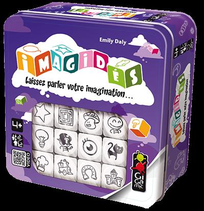Jeu enfant - Boîte métal - Jeu pédagogique - Thème animaux - Thème magie, fantastique - Travailler: langage - Vocabulaire - imagination, imagidés