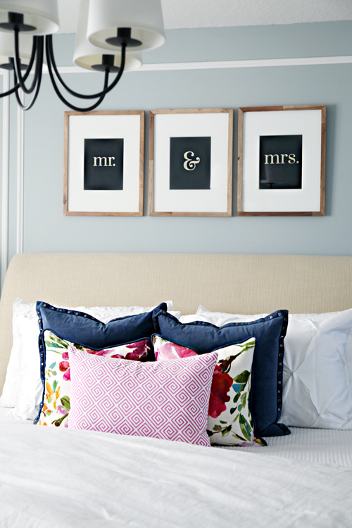 Iheart organizing master bedroom refresh how we saved Master bedroom art above bed
