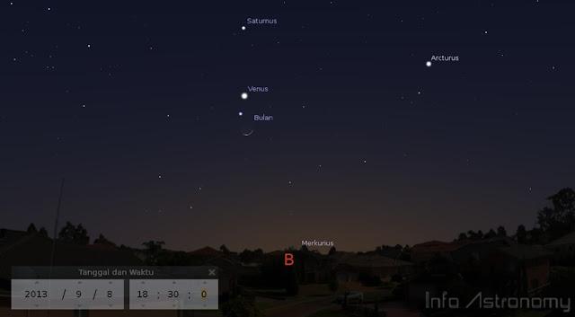 Lihat Venus dan Bulan Bersamaan Akhir Pekan Ini