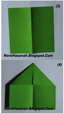 cara membuat origami untuk pemula bentuk pesawat terbang 2