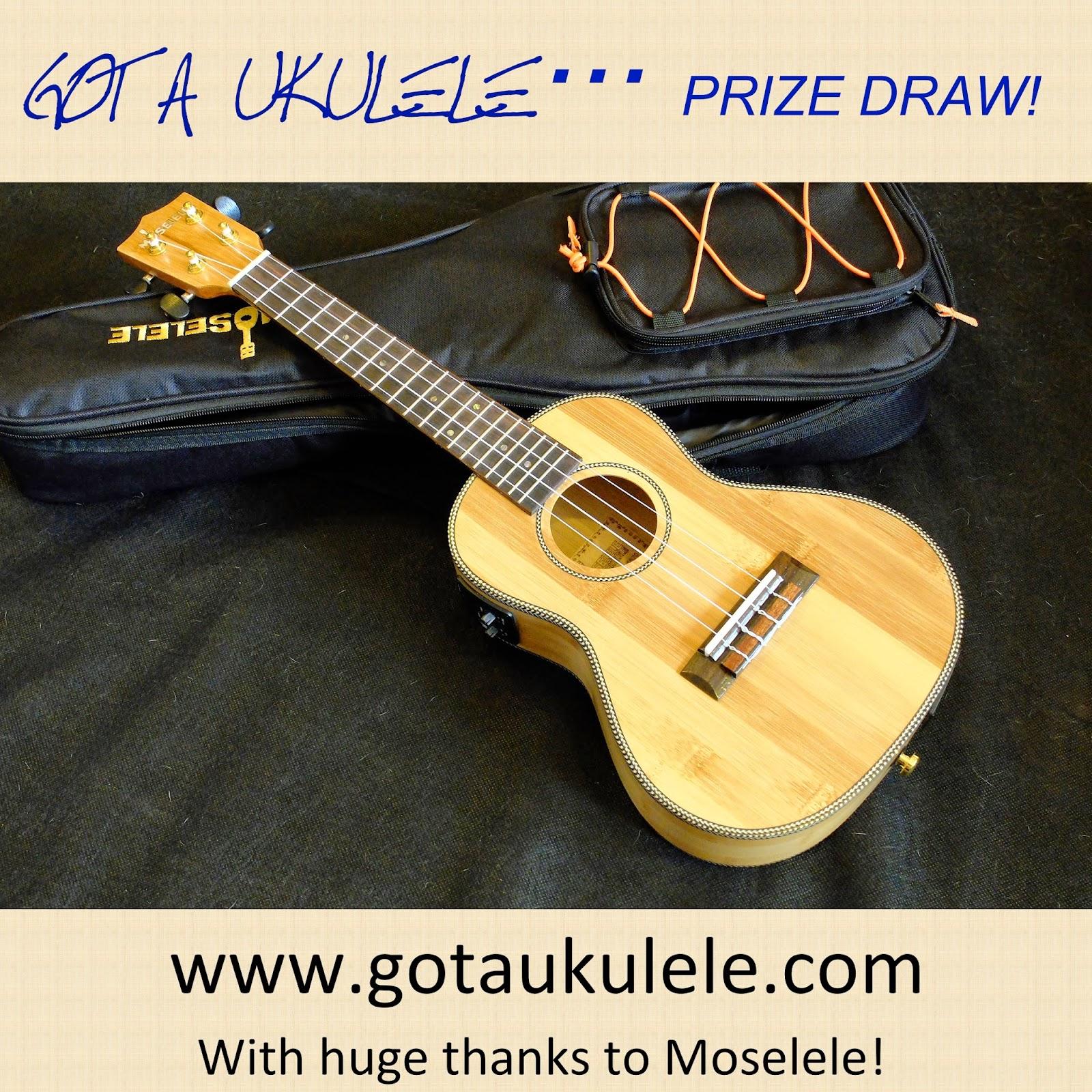 Moselele ukulele giveaway