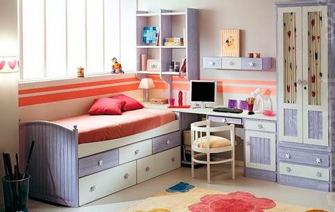 Dormitorio infantil pino veteado xikara for El mueble habitaciones juveniles