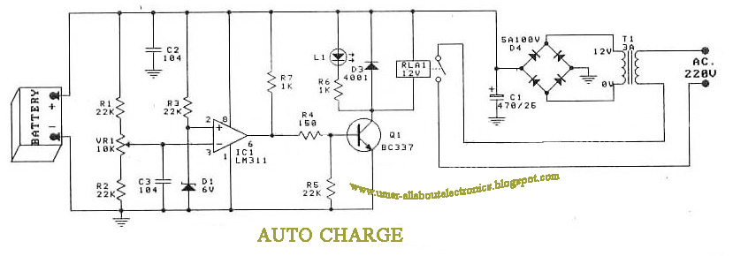 12v Battery Auto Charger Circuit Diagram The Best Charger 2018