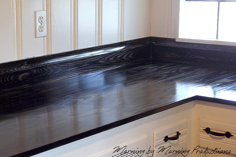 finish make kitchen to with traditional diy a countertops shelterness hgtv wooden countertop via