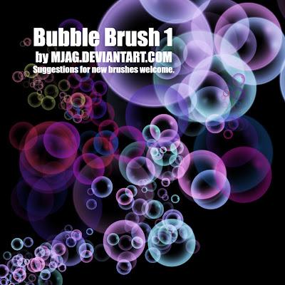 pinceles photoshop burbujas