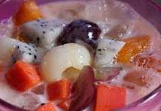 cara membuat, membikin, mengolah es sop buah segar spesial, sedap, nikmat