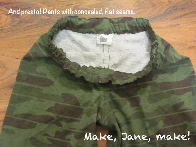 easy sew pants french flat felled seams
