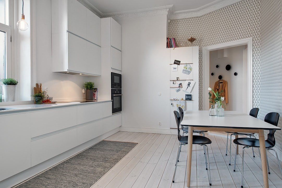 Nore interi r kj kken med innebygd ventilator for Papel pintado para cocinas lavable