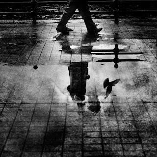 Día gris y triste bajo la lluvia