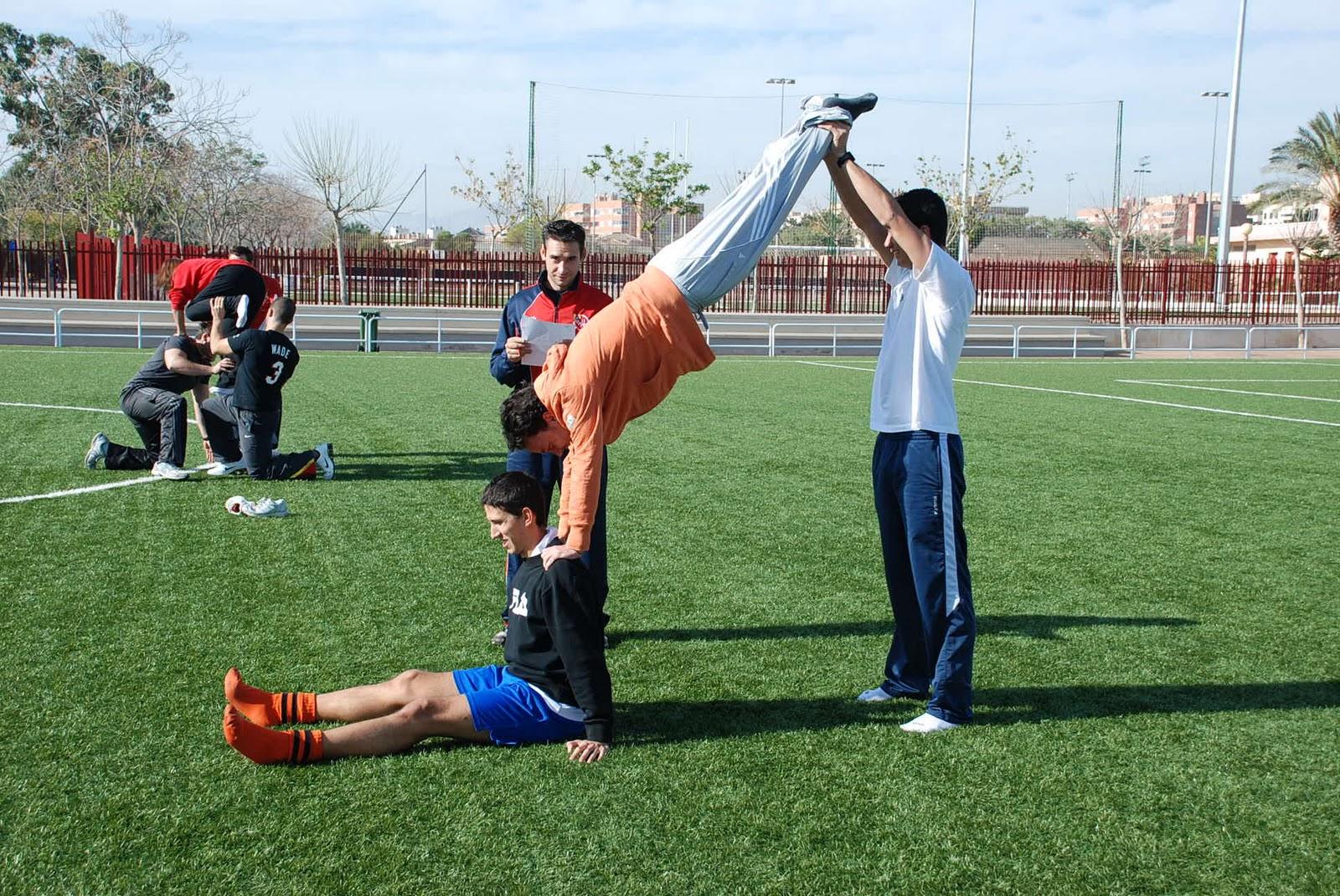 ejercicios y juegos aplicados a las actividades gimnasticas: