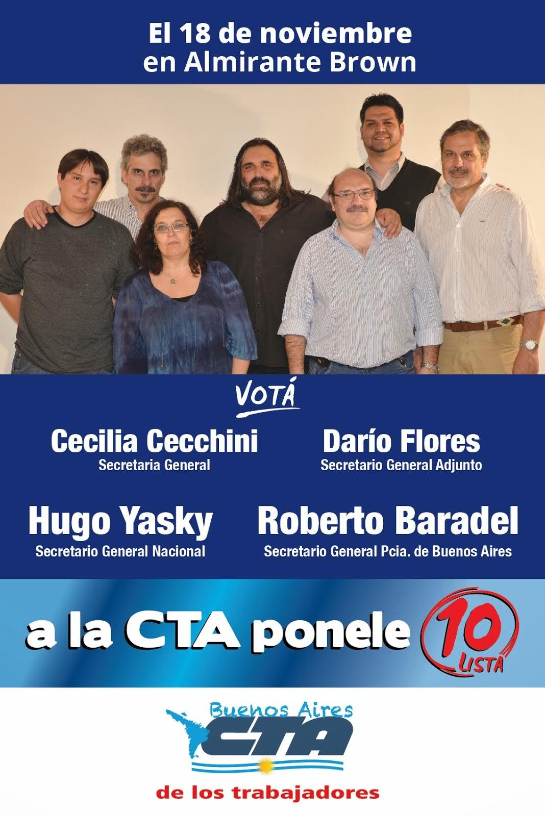 EL 18/11 SUTEBA PARTICIPA DE LAS ELECCIONES DE LA CTA - Central de Trabajadores de la Argentina