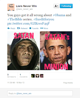 #ObamaIsNotSatan First Tweet
