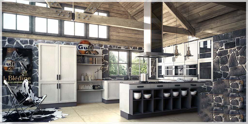 New Age moderne kjøkken - interiør inspirasjon
