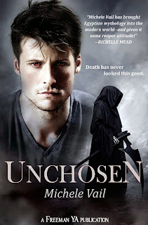 Book 2 in Michele Vail's The Reaper Dairies is called UNCHOSEN.
