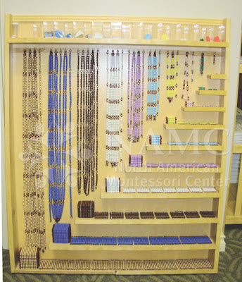 NAMC montessori bead cabinet and materials math and counting 