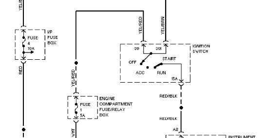Charging System Circuit 1997 Volvo 960