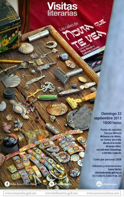 "Visitas literarias presenta ""Novia que te vea"" de Rosa Nissán por la Lagunilla"