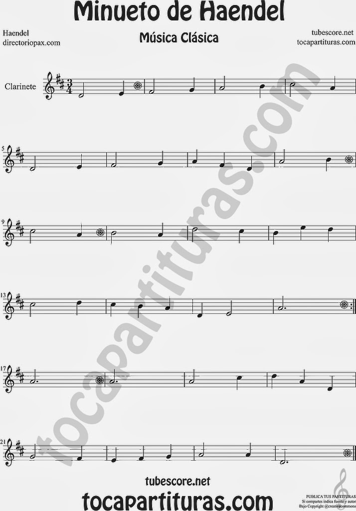 Partitura de Trompa y Corno en Mi bemol by Sheet Music for Horn and French Horn Music Scores.