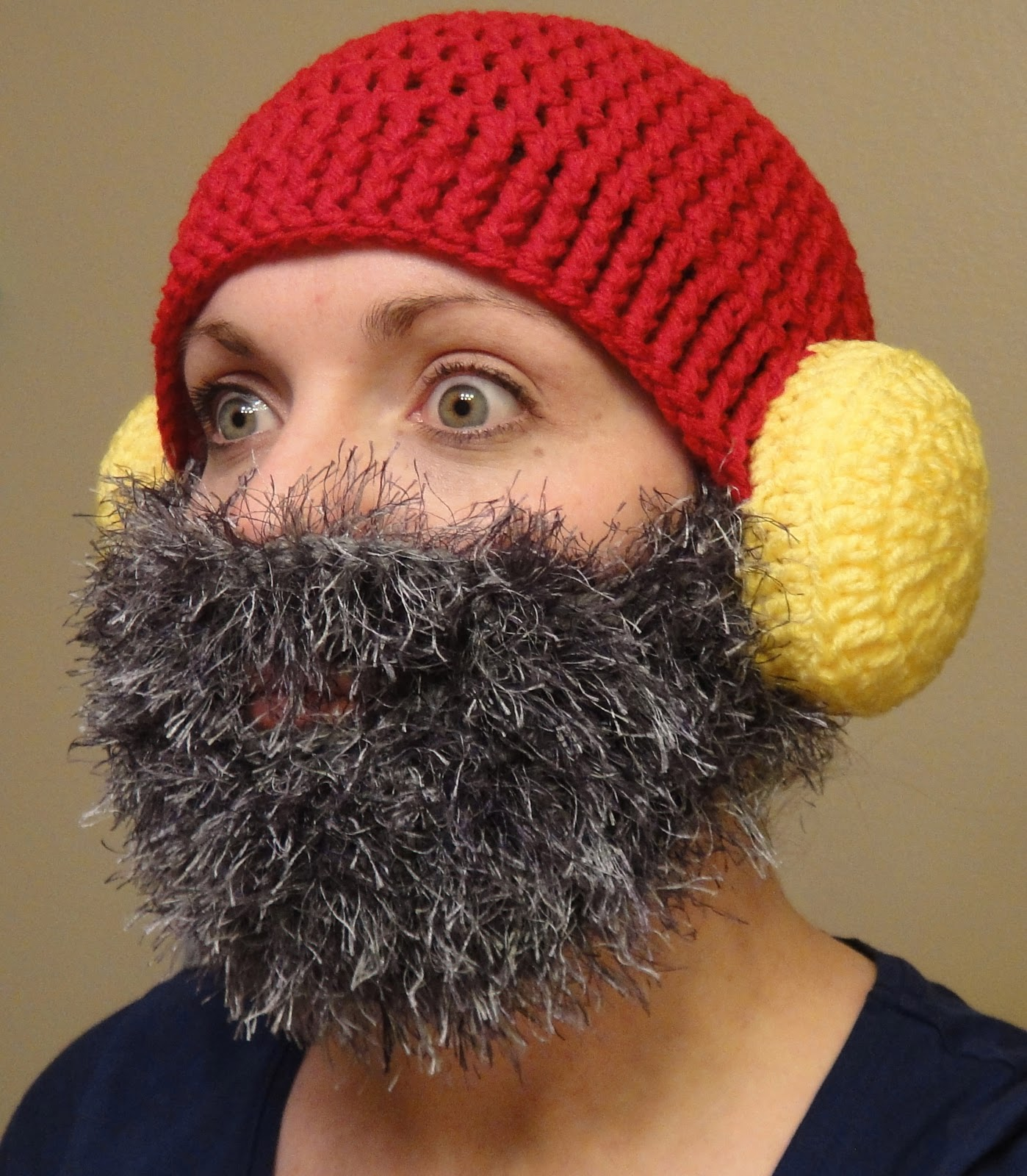 Beanie Hat With Beard Crochet Pattern Free : Crochet Beard Beanie Pattern Free - Viewing Gallery