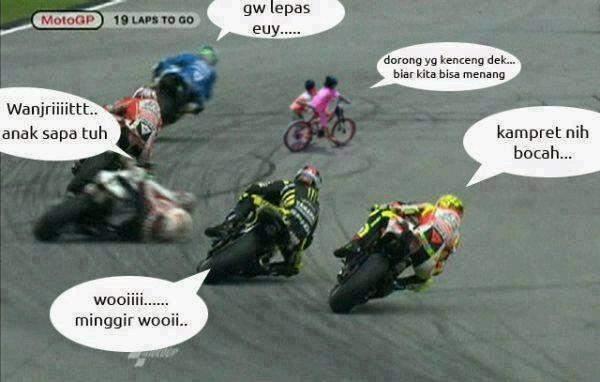 Gambar MotoGP Lucu
